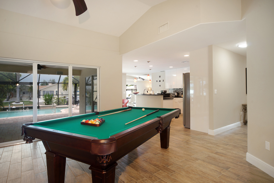 Villa Sunrise Billiard Table Cape Coral Vacation Rental