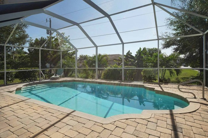 Villa Sunshine pool view - Cape Coral Vacation Rental