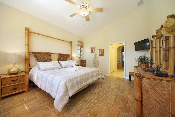 Villa Sunshine master bedroom view 2 - Cape Coral Vacation Rental