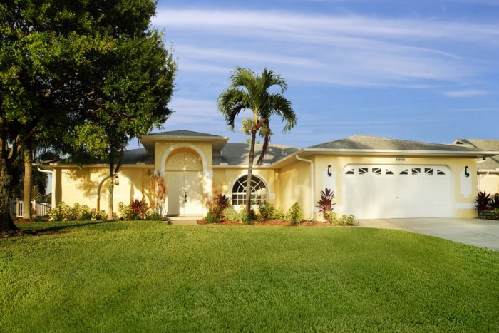 Villa Sunrise front elevation - Cape Coral Vacation Rental