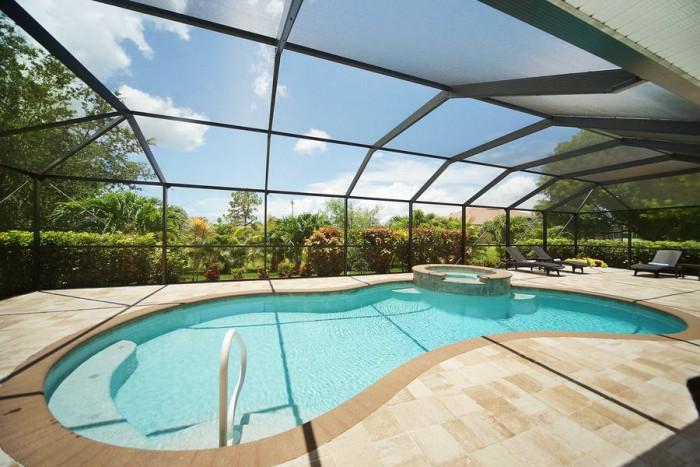 Villa Blue Horizon outside pool area - Cape Coral Vacation Rental