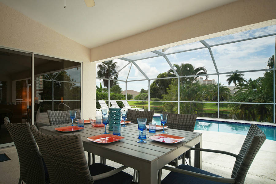 Villa Rose Garden Outside Dinning View Cape Coral