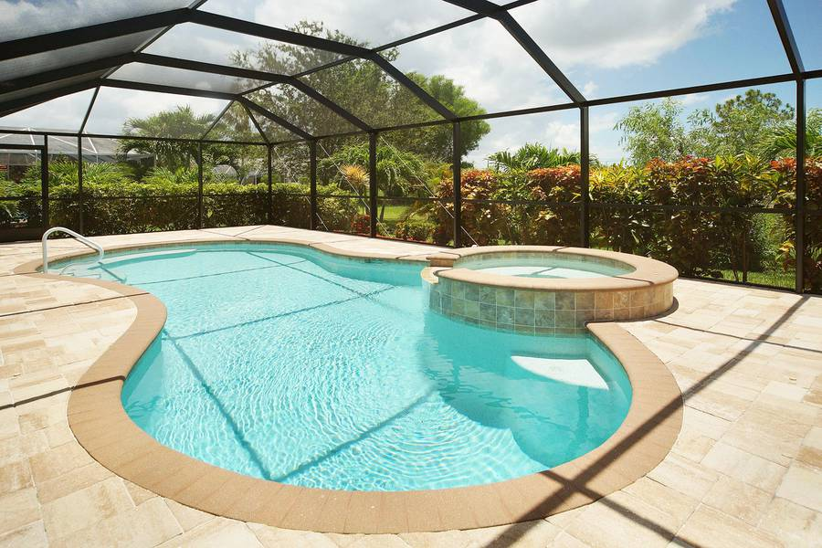 Villa Blue Horizon jacuzzi pool view - Cape Coral Vacation Rental