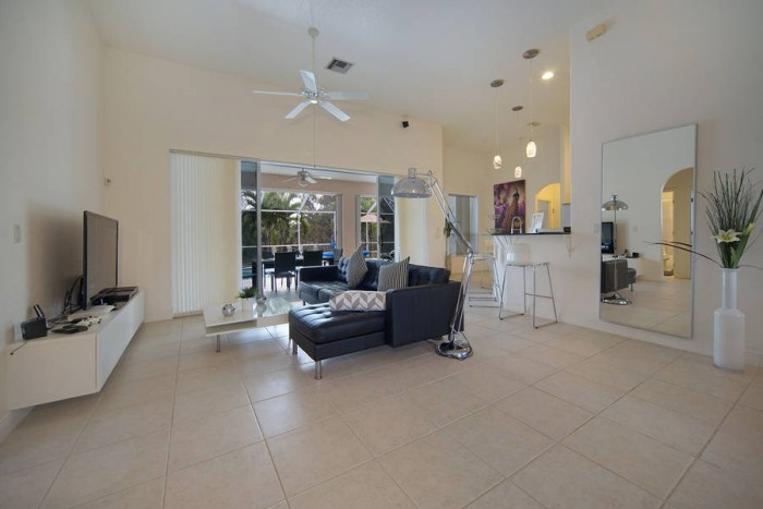 Villa Malibu living area - Cape Coral Vacation Rental